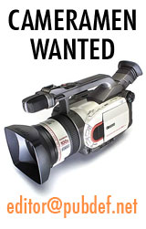 PubDef.net is looking for cameramen.