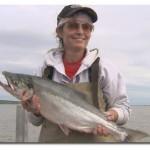 Sarah Palin with a fish
